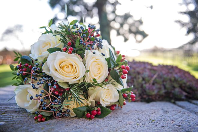 Bridal Bouquet Contemporary Winter Wedding