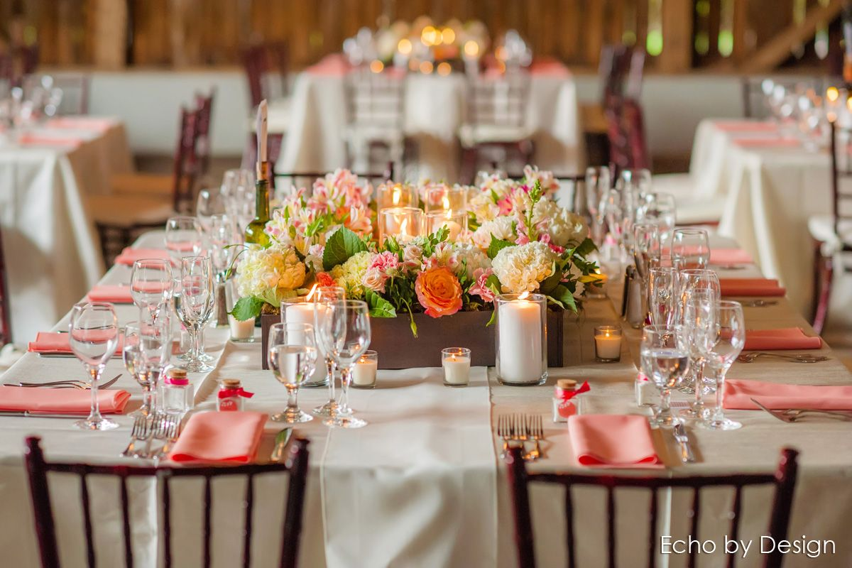 Rustic Coral And Champagne Color Wedding At The Willow Tree Inn Dayton Ohio Event Planning Dayton Weddings Dayton Wedding Venues Champagne Wedding Colors