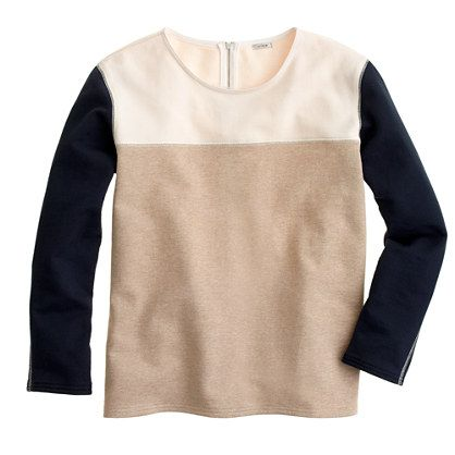 J.Crew - Back-zip colorblock sweatshirt