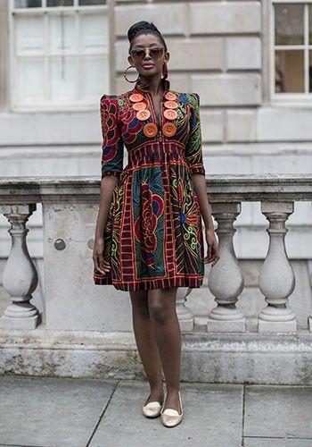 London Fashion Week Ss14 Street Style Latest African Fashion African Women Dresses African