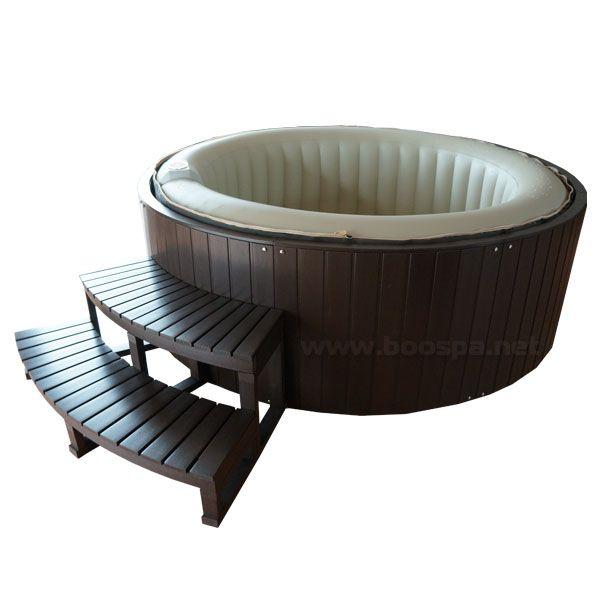 Habillage composite pour spa gonflable 4 places accessoires et pi ces pour spa spa et - Habillage bois spa gonflable ...