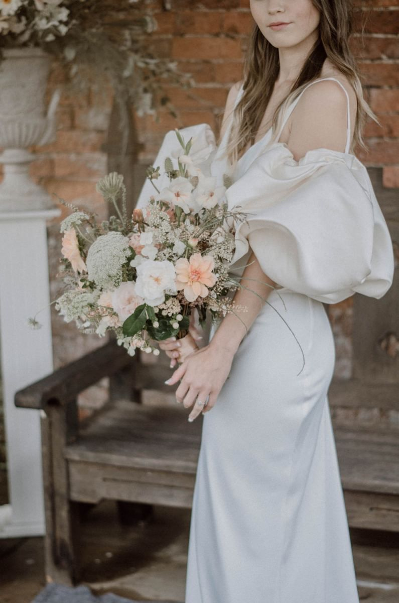 28+ Peach wedding dress with sleeves ideas in 2021