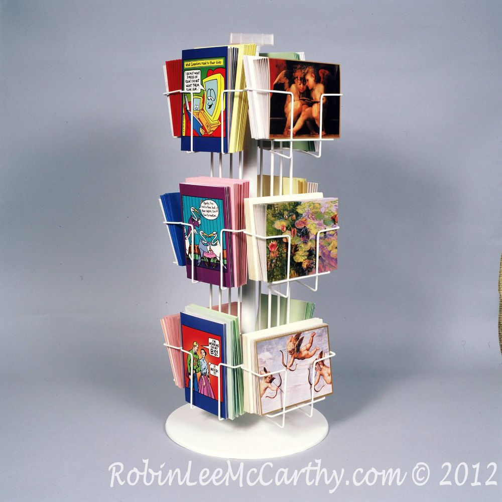 New 12 Pkt Combo 5x7 Greeting Card Display Rack Low Price White