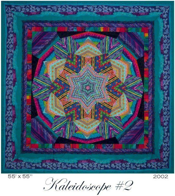Kaleidoscope Quilt By Ricky Tims I Just Discovered This Style It Is Like The Star Quilts But These Do Not Appear To Be 45º Angle Stars Stil Kaleidoscope Quilt