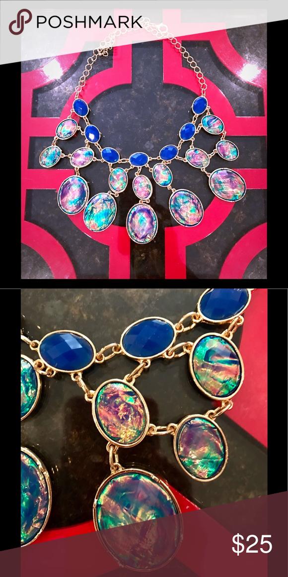 Iridescent Stone Necklace Iridescent Stone Necklace. Gently Worn. Jewelry Necklaces