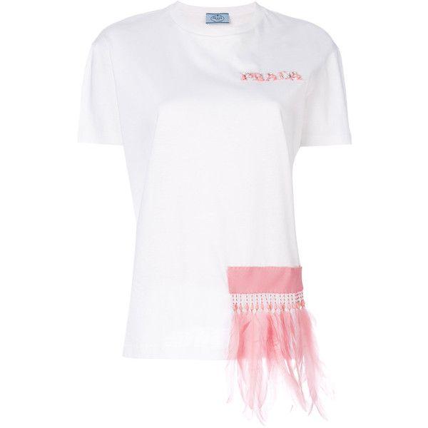 embellished shirt - White Prada Buy Cheap Exclusive Clearance Deals Buy Cheap Countdown Package rDTa9qqU1