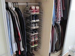 Cool Praktisches Schuhregal aus Kunststoff f r den Kleiderschrank zum Aufh ngen an der Kleiderstange
