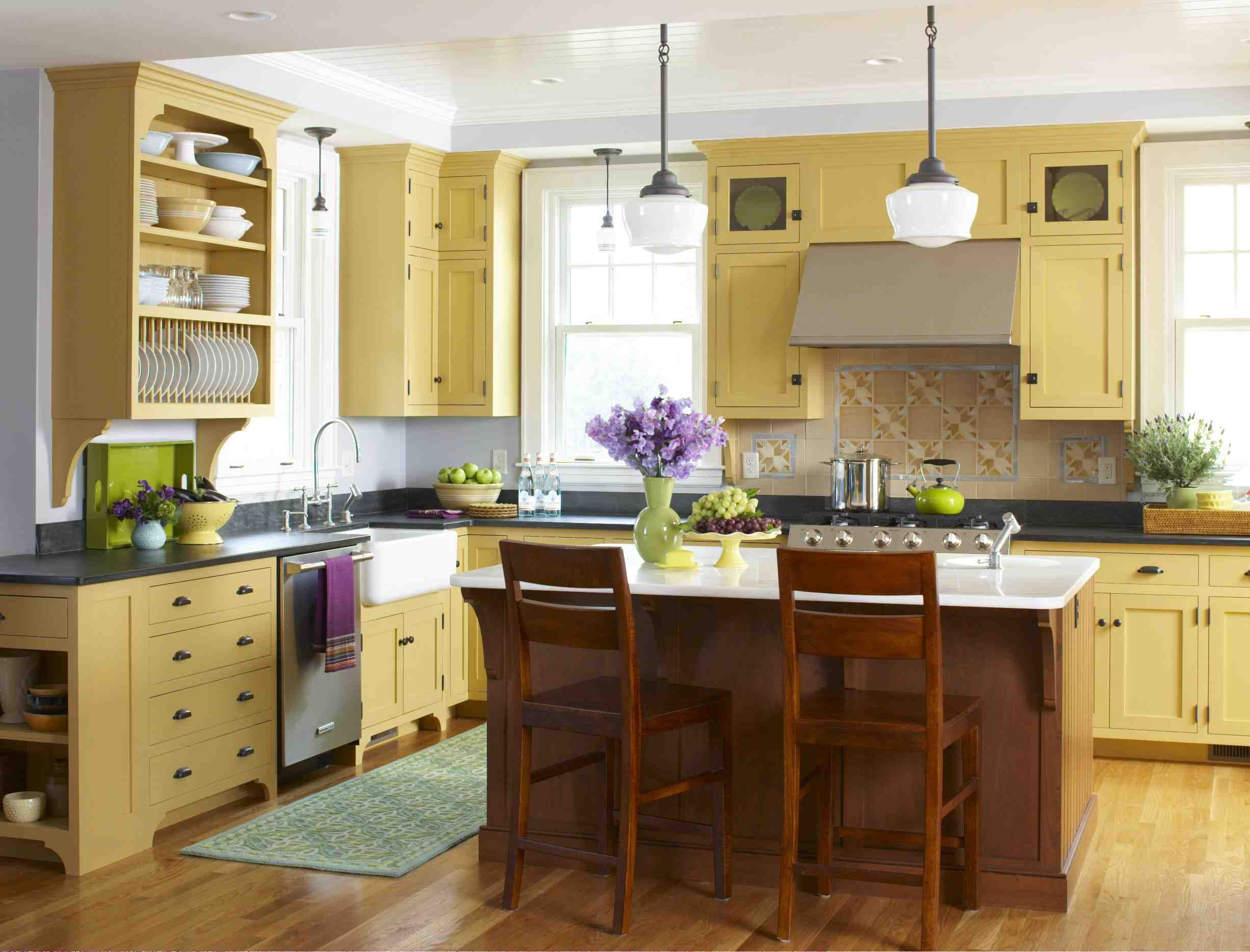style archive mellow yellow kitchen kitchen design warm kitchen colors kitchen remodel on kitchen remodel yellow walls id=95047