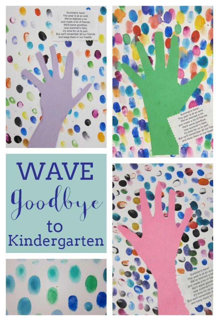 End Of Year Kindergarten Fingerprint Art Kindergarten Crafts