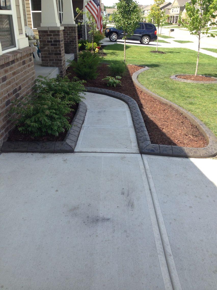 Concrete Edging Small Garden Landscape Design Small