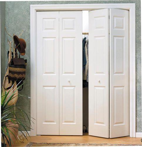 Need 2 For My Girlcave Mastercraft 48 W X 80 H Primed 6 Panel Woodgrain Colonist 4 Leaf Bifold Door Bifold Doors Custom Bifold Closet Doors Bifold Closet Doors