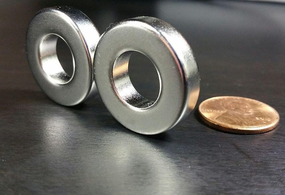 "Super strong N52 rare earth magnet 2/"" Huge Neodymium ring magnet"