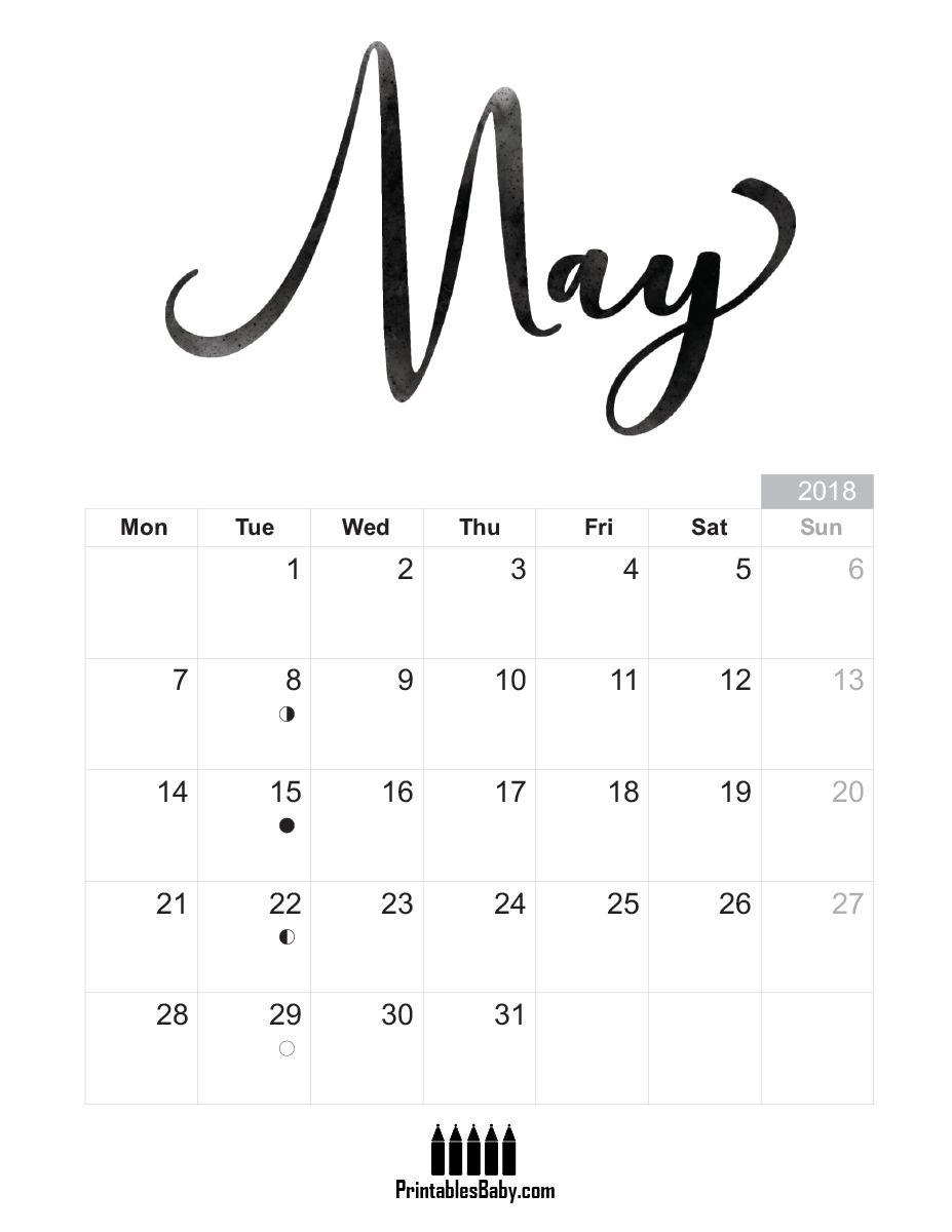 Baby Calendar May : May calendar free printable sheets