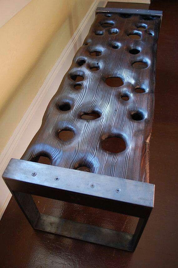 Drift wood bench by Modern Drift