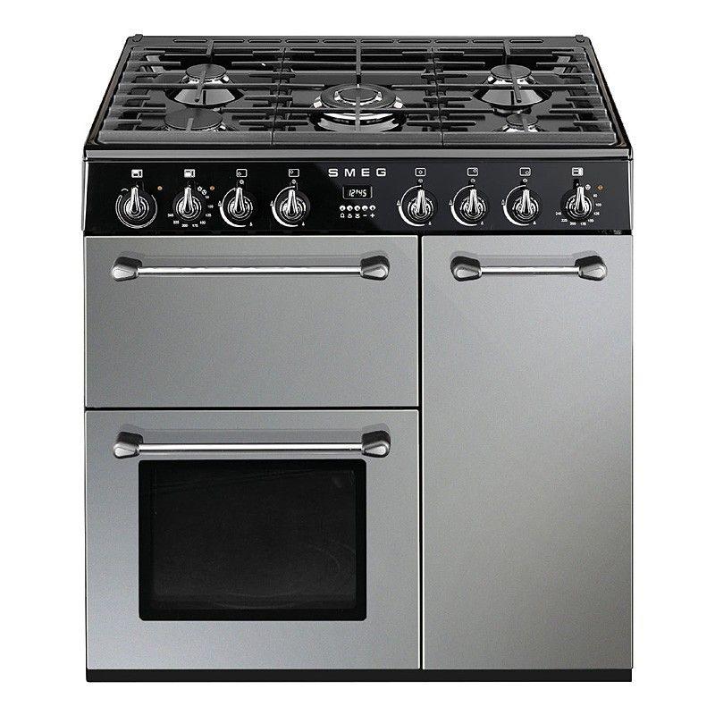 Smeg Bm93s Silver 90cm Blenheim Range Cooker 949 Range Cooker Dual Fuel Range Cookers Smeg