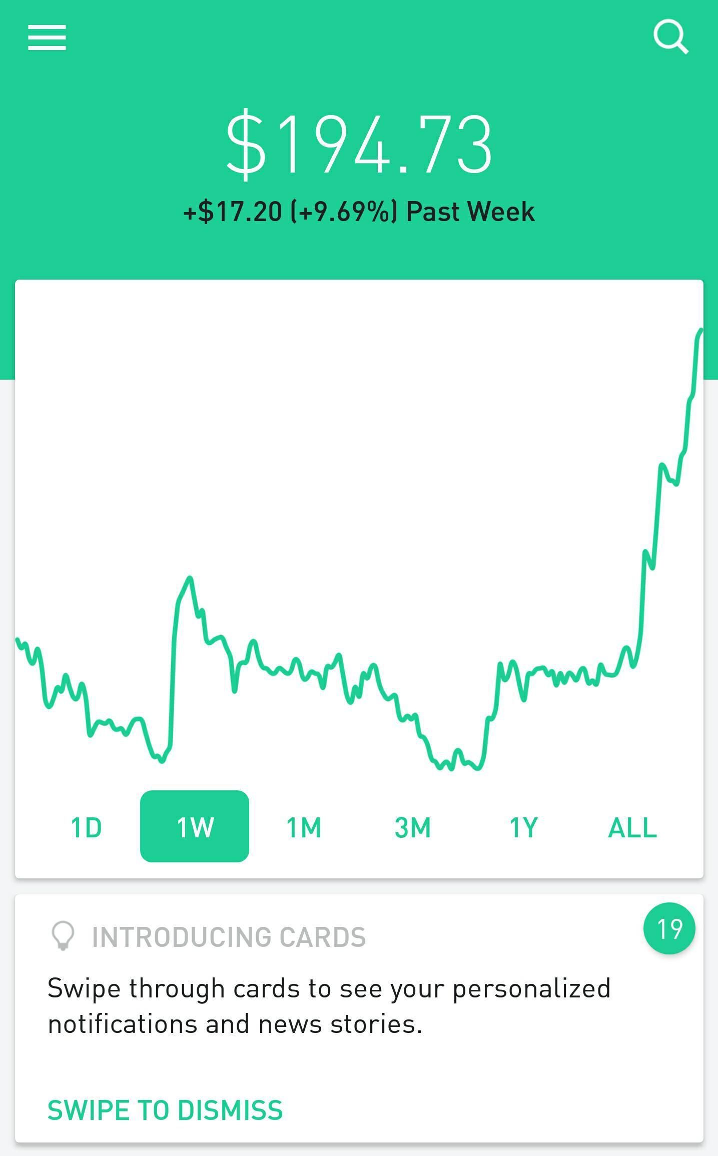 Robinhood App Portfolio Graph Stock Market Investing Start Investing