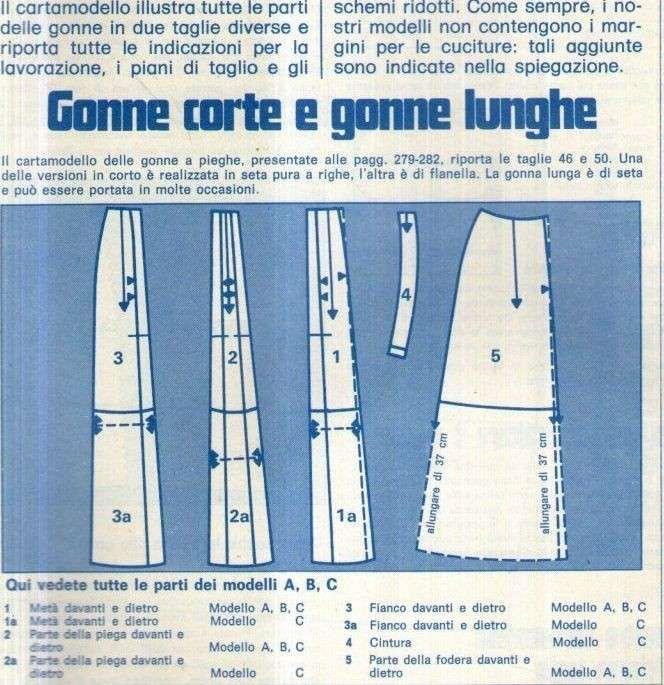 Cartamodelli per gonne lunghe - Gonna lunga con il cartamodello ... 7053bc38189d