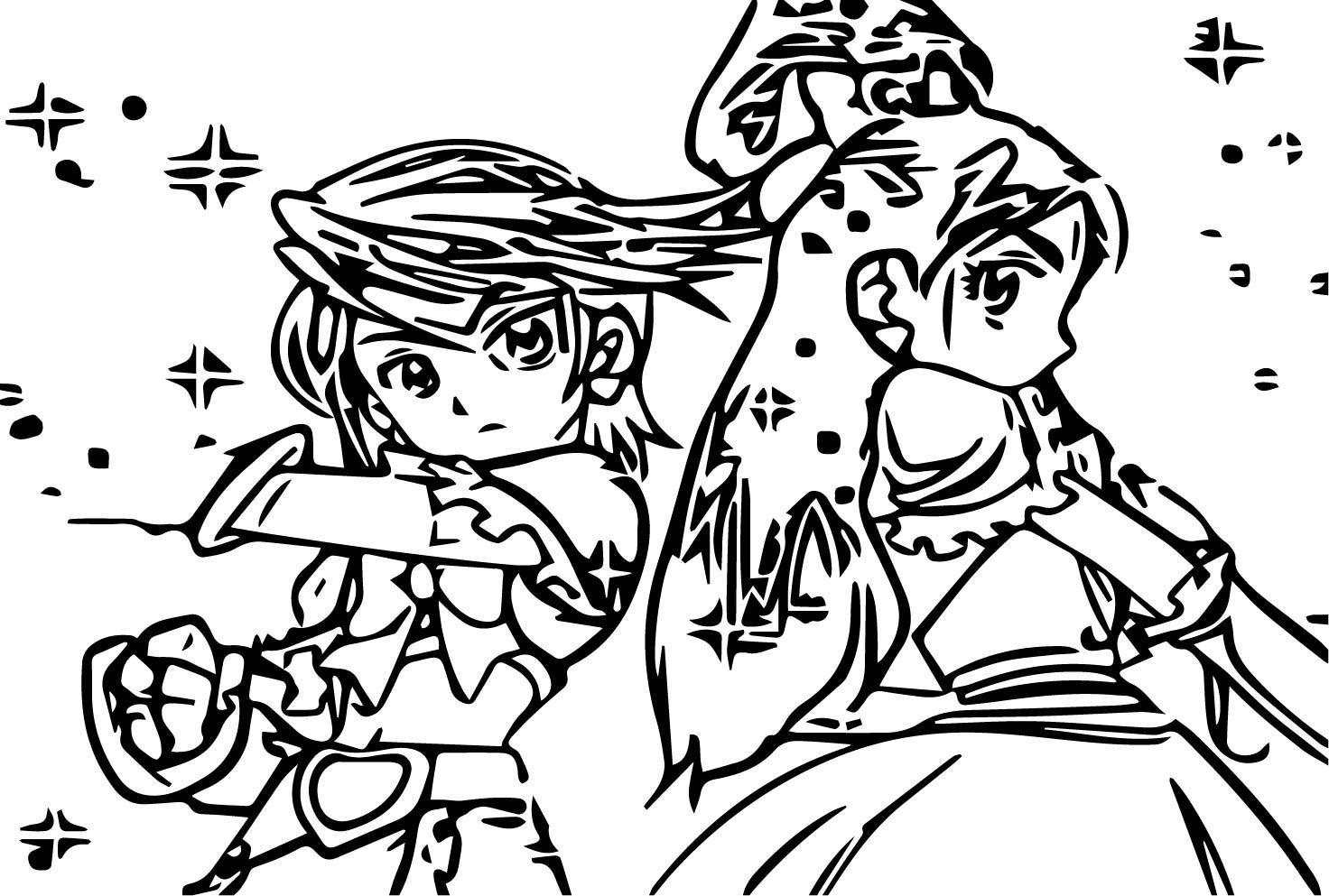 awesome Glitter Force Ready Coloring Page Glitter force