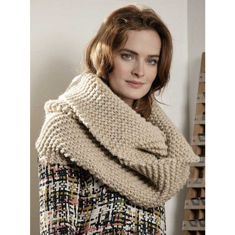 Clove Loop Scarf knitted in Rowan Big Wool | Knotted | Pinterest ...