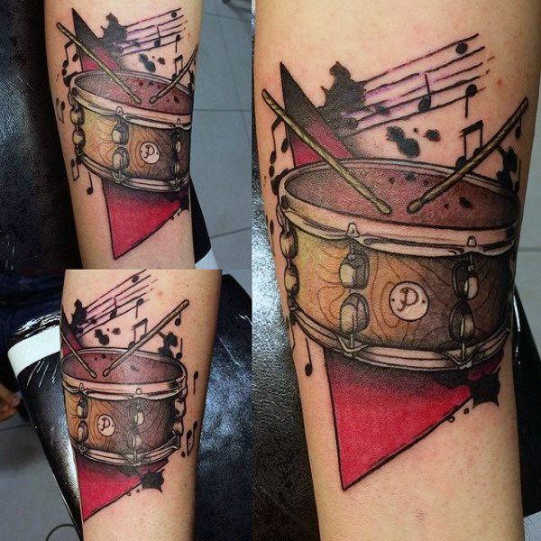 Top 67 Drum Tattoo Ideas 2020 Inspiration Guide Drum Tattoo Snare Drum Tattoo Drummer Tattoo