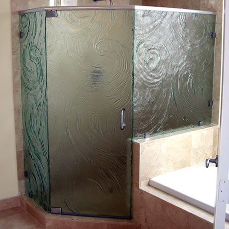 Cast Glass Shower Enclosures Standard Heights Up To 108 Tall