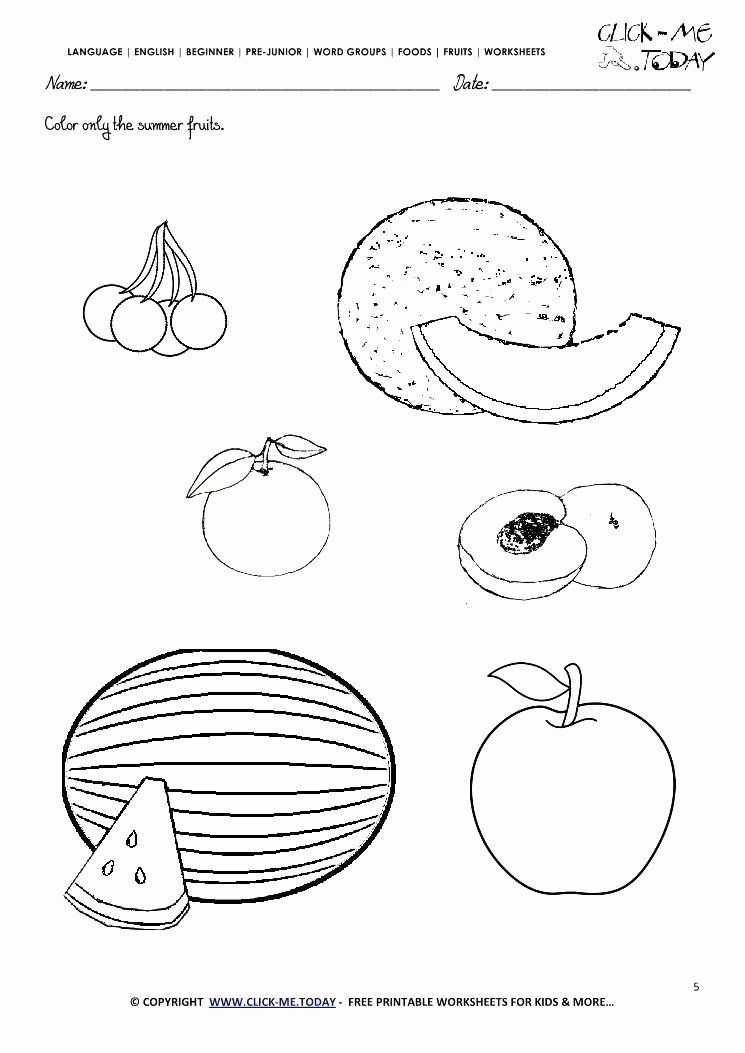 Coloring Vegetables Worksheets Pdf Awesome Color The Fruit Worksheet Twisty Noodle F In 2020 Coloring Worksheets For Kindergarten Color Worksheets Fruit Coloring Pages
