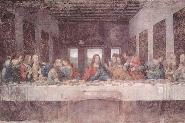 Leonardo Da Vincis bild av hur Jesus sista måltid med sina lärjungar kan ha sett ut.