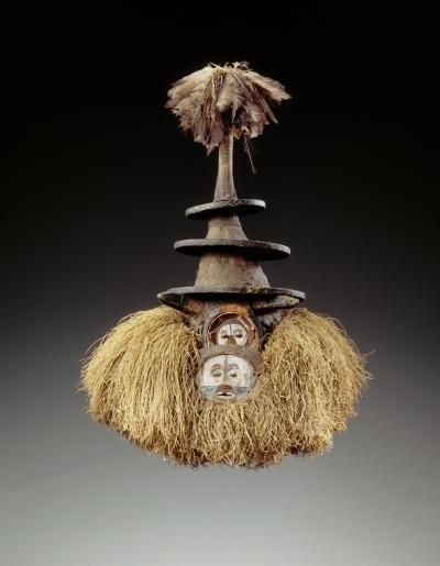 Africa   Tsekedi face mask from the Yaka people of Kwango, Bandundu, DR Congo   wood, feather, vegetal fibre   ca. prior to 1933   This Yaka mask is a tsekedi type. Although worn by young circumcised males at the end of the mukanda ritual, they have little importance and are only rarely seen during the grand dance performed by the young men in the surrounding villages.