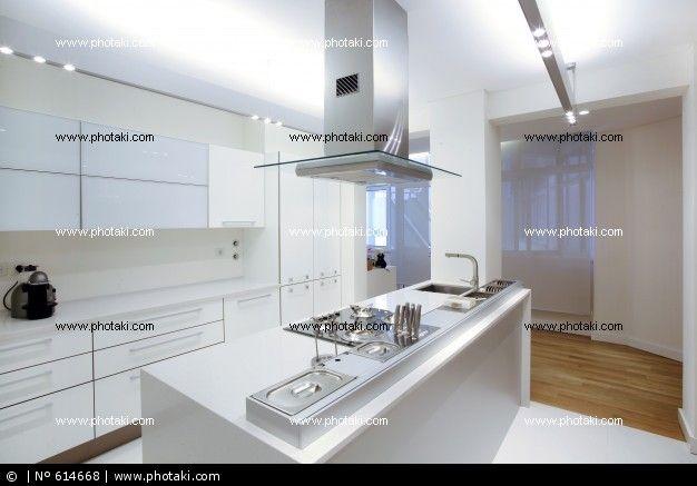 cocina blanca suelo madera - Buscar con Google | Cocina | Pinterest ...