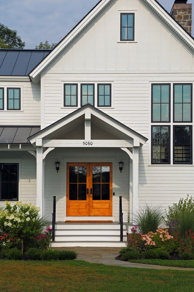 Modern farmhouse exterior design ideas 4 Modern