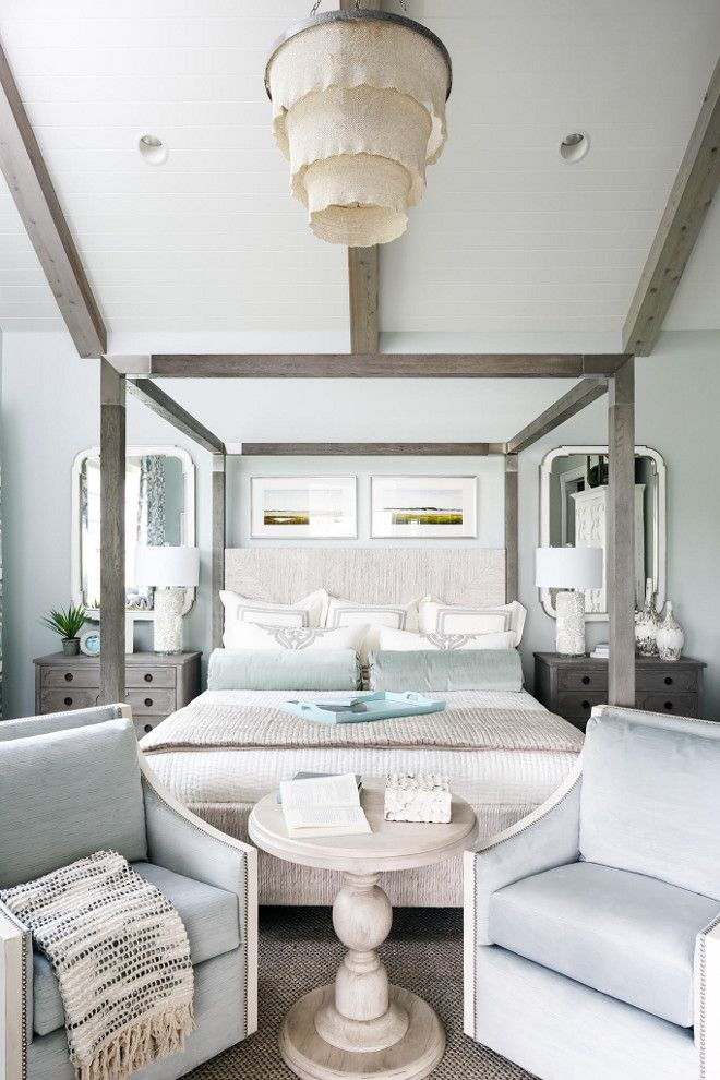 Soothing Bedroom Paint Color Sea Salt by Sherwin Williams