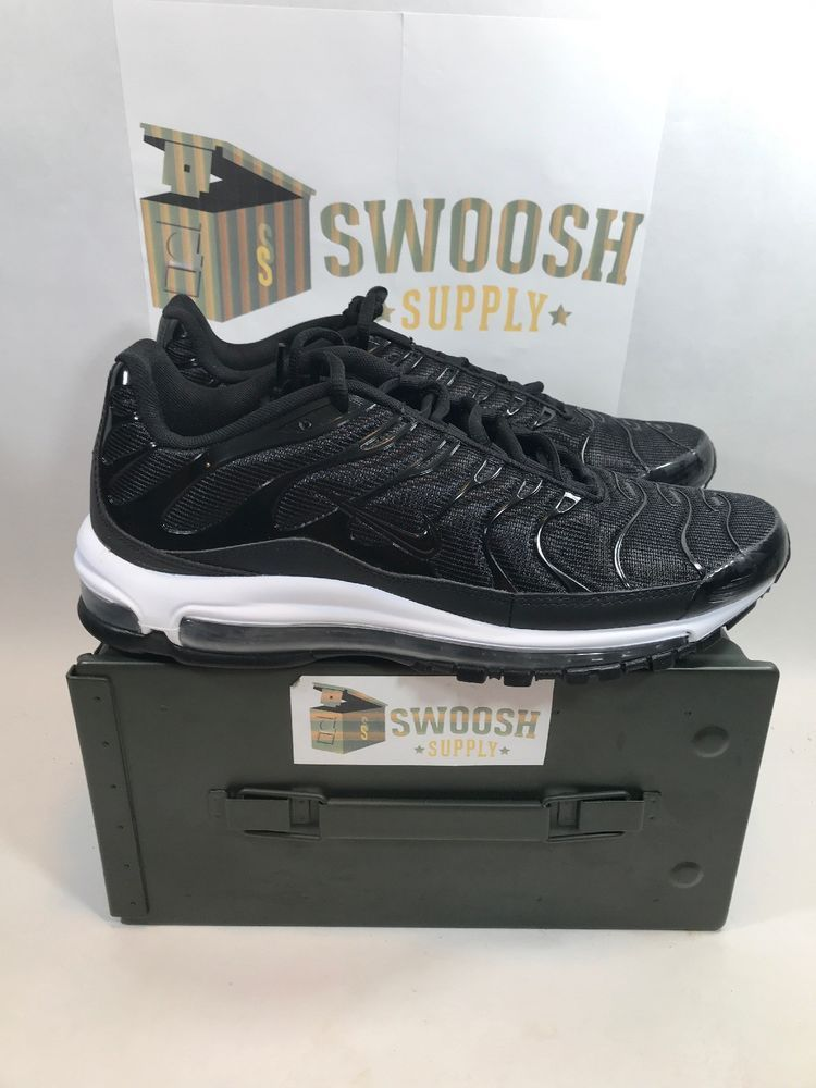 9c204dfc4e8 Nike Air Max 97 Plus Size 9.5 Black Anthracite White Running Shoe AH8144-001   Nike  RunningShoes