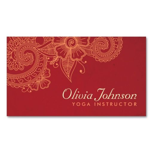 Modern Henna Design Business Cards - Groupon