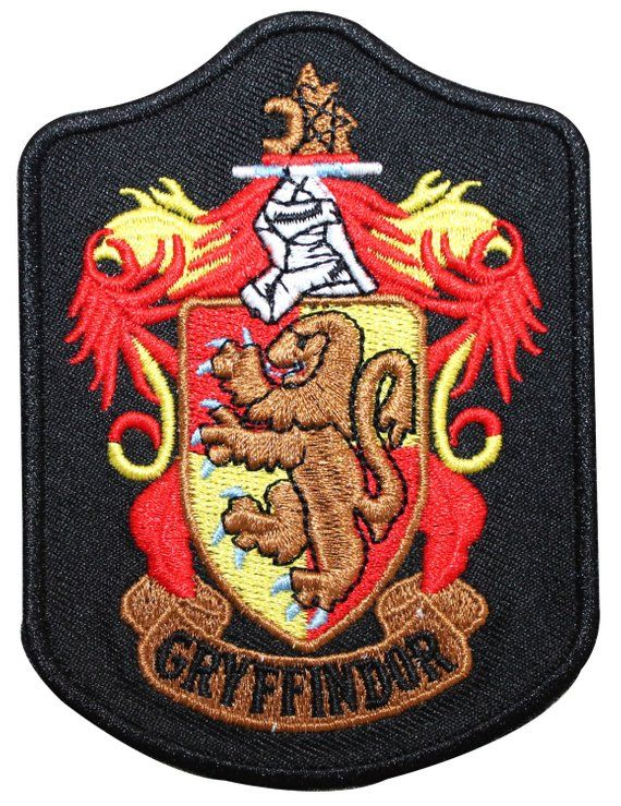 ddb38c3552f Larger Gryffindor Hogwarts' House Shield Harry Potter Iron On Badge ...