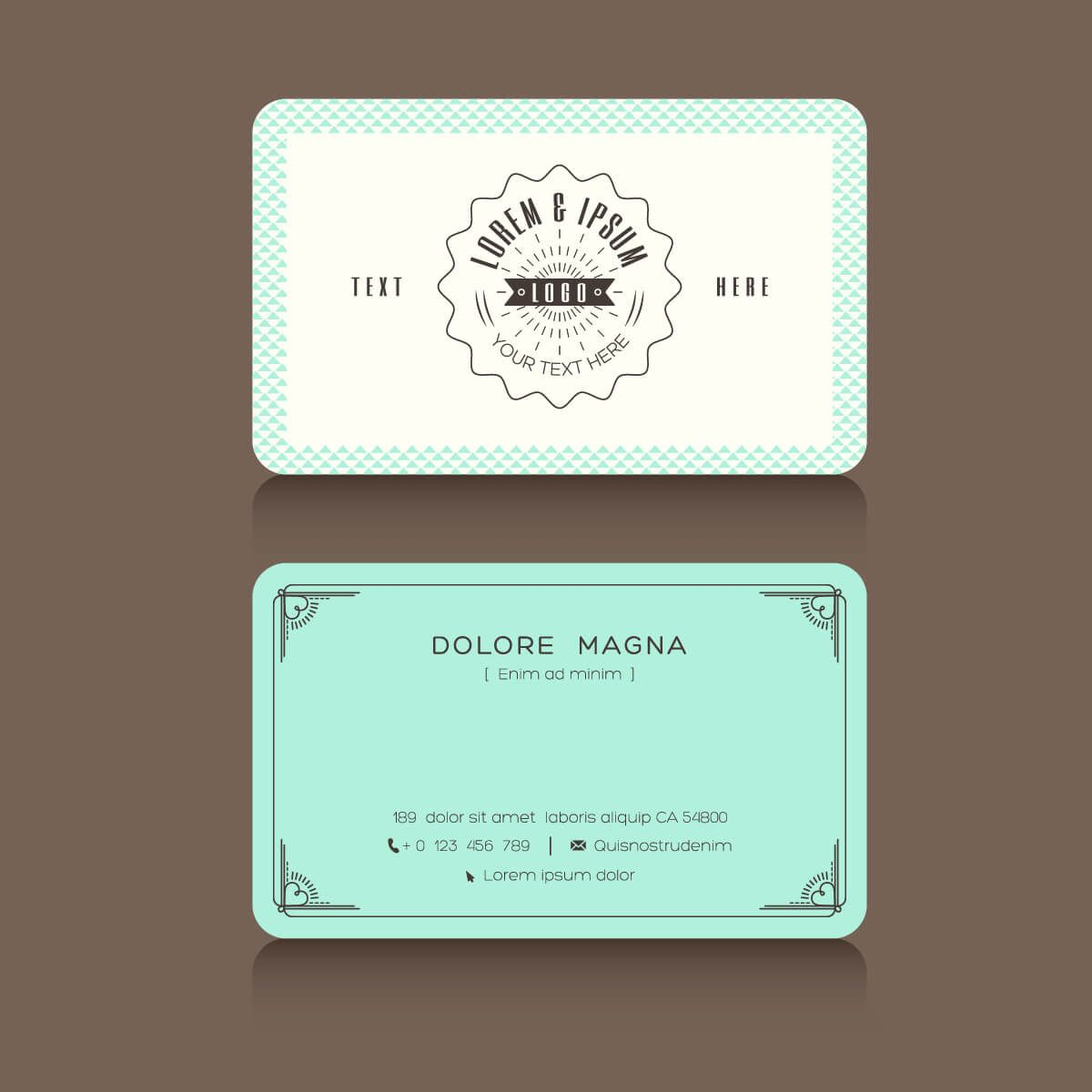Flat Business Card Sample Design HttpDesignersComPortfolio