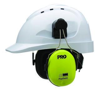 Earmuff Python Slimline Hi Vis Hard Hat Earmuffs Hard Hat