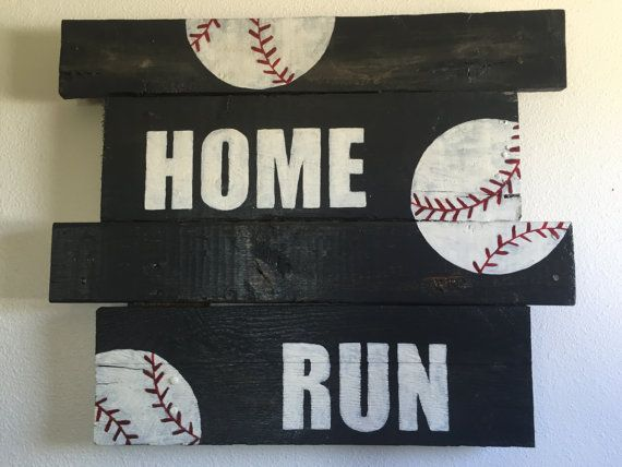 Baseball Board Welcome Sign Sports Wooden By CraftedSimplyInc