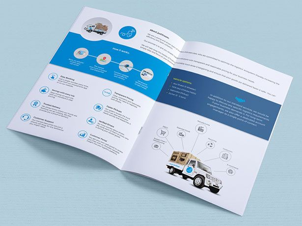 Logistics Company Brochure 2016 Design Pinterest Brochures