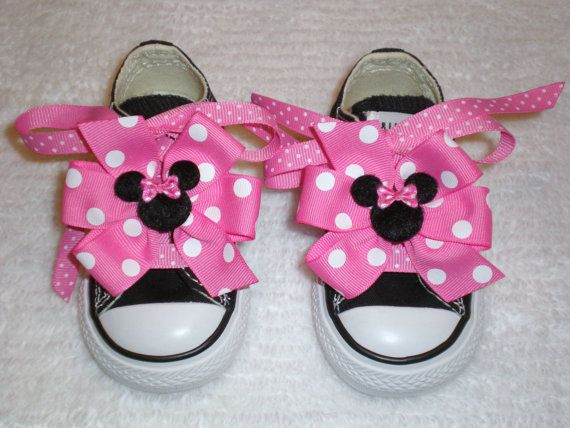 Hey, I found this really awesome Etsy listing at https://www.etsy.com/listing/83074490/minnie-mouse-bows-and-laces-for-shoes