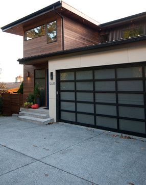 Contemporary Full View Glass Garage Doors Full View Aluminum