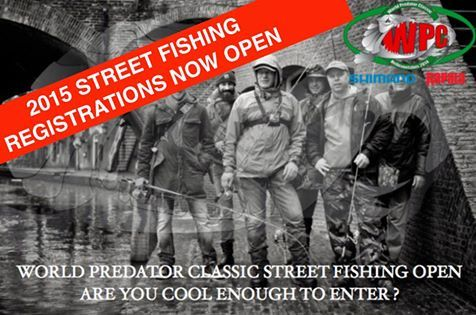 WSF15 Street Fishing  - Open Registration  We are extremely proud to announce that following the tremendous success of the inaugural event, registrations for the 2015 World Predator Classic Street Fishing are open.