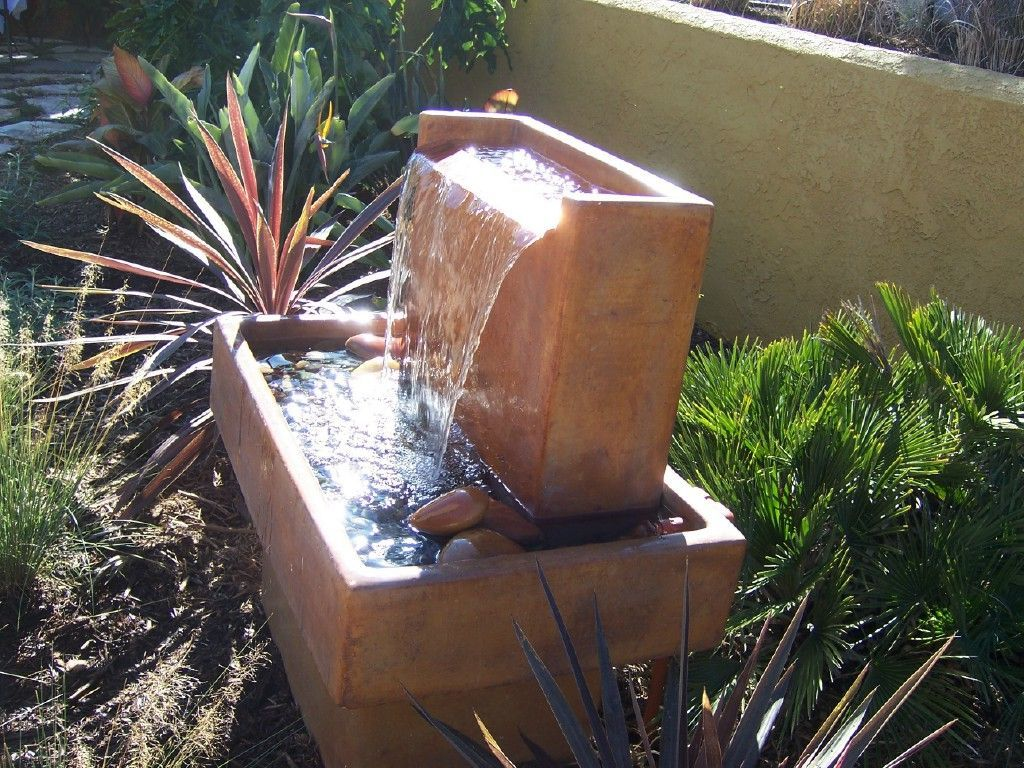 Outdoor , Garden Water Fountains Update The Look Of Your Outdoor : Simple Water  Fountain For