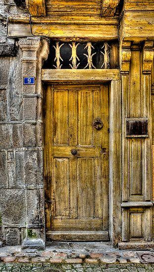 Morlaix Finistère détail d\u0027une porte d\u0027entrée (porche) France