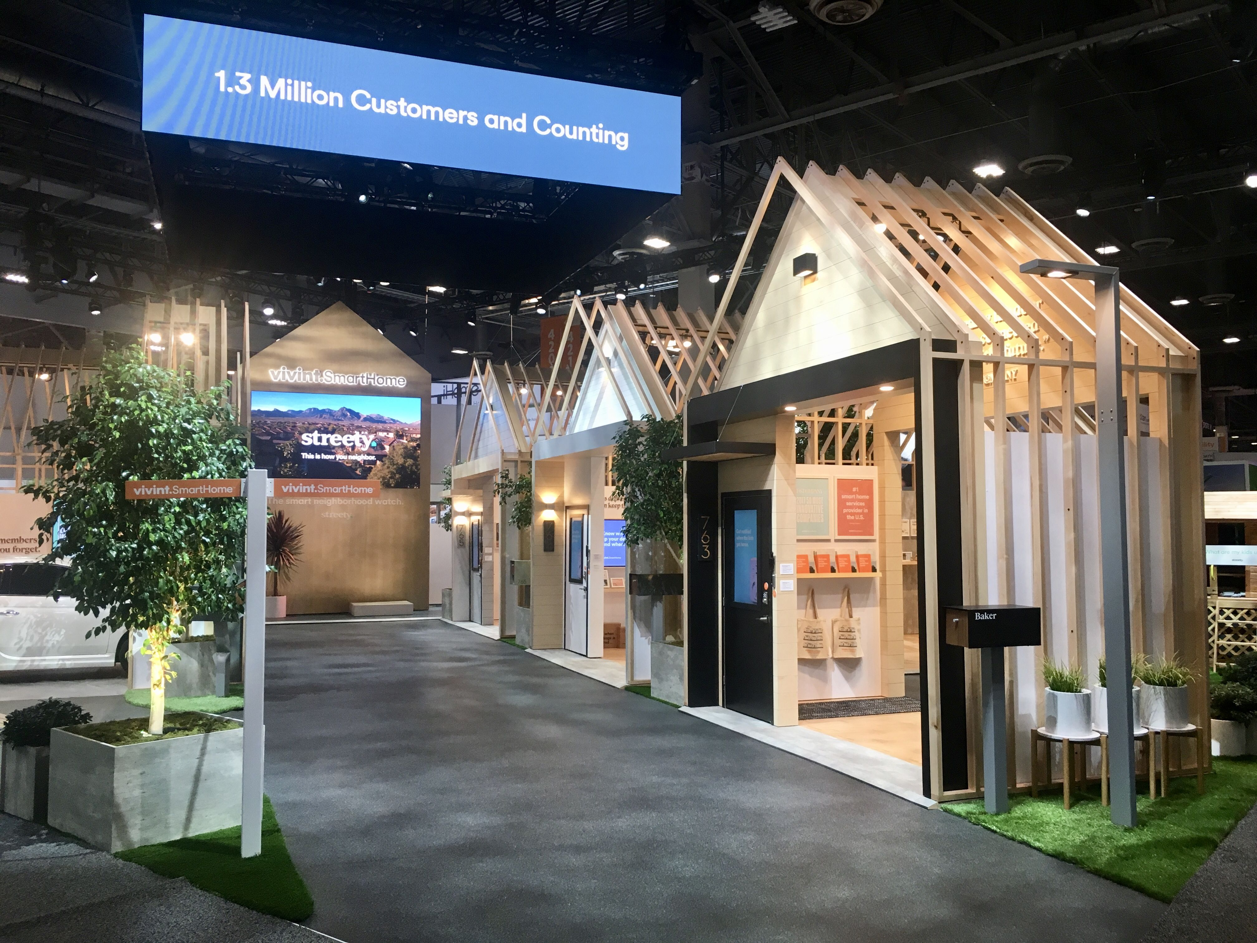 50x80 VIVINT Booth At CES 2108 By Mackenzie EXHIBIT