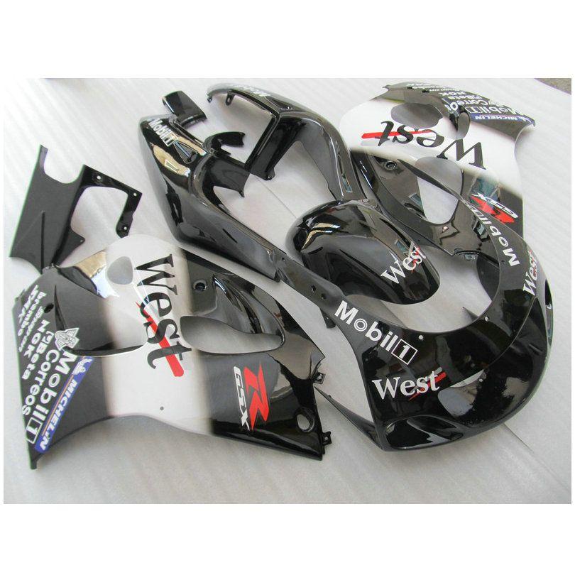 LoveMoto Car/énages pour GSXR1000 GSXR 1000 2005 2006 K5 05 06 GSX R1000 K5 Jeux de car/énages moto en plastique ABS moul/é par injection Noir Rouge