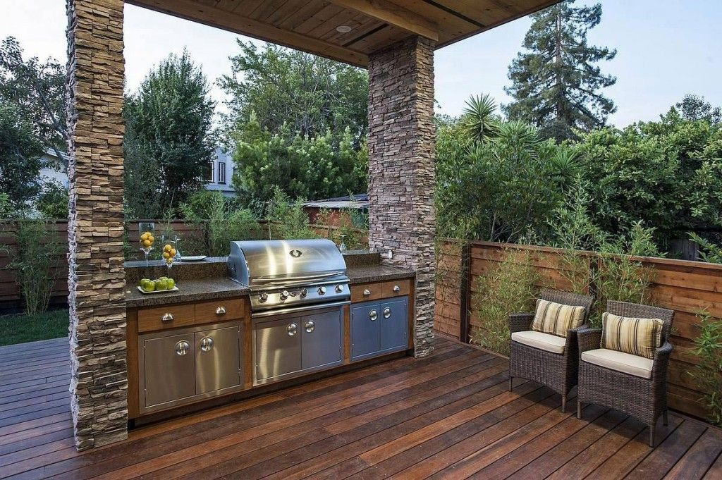 Beautiful Barbeque Area Design Idea | Barbecue design ... on Patio Grilling Area  id=46121