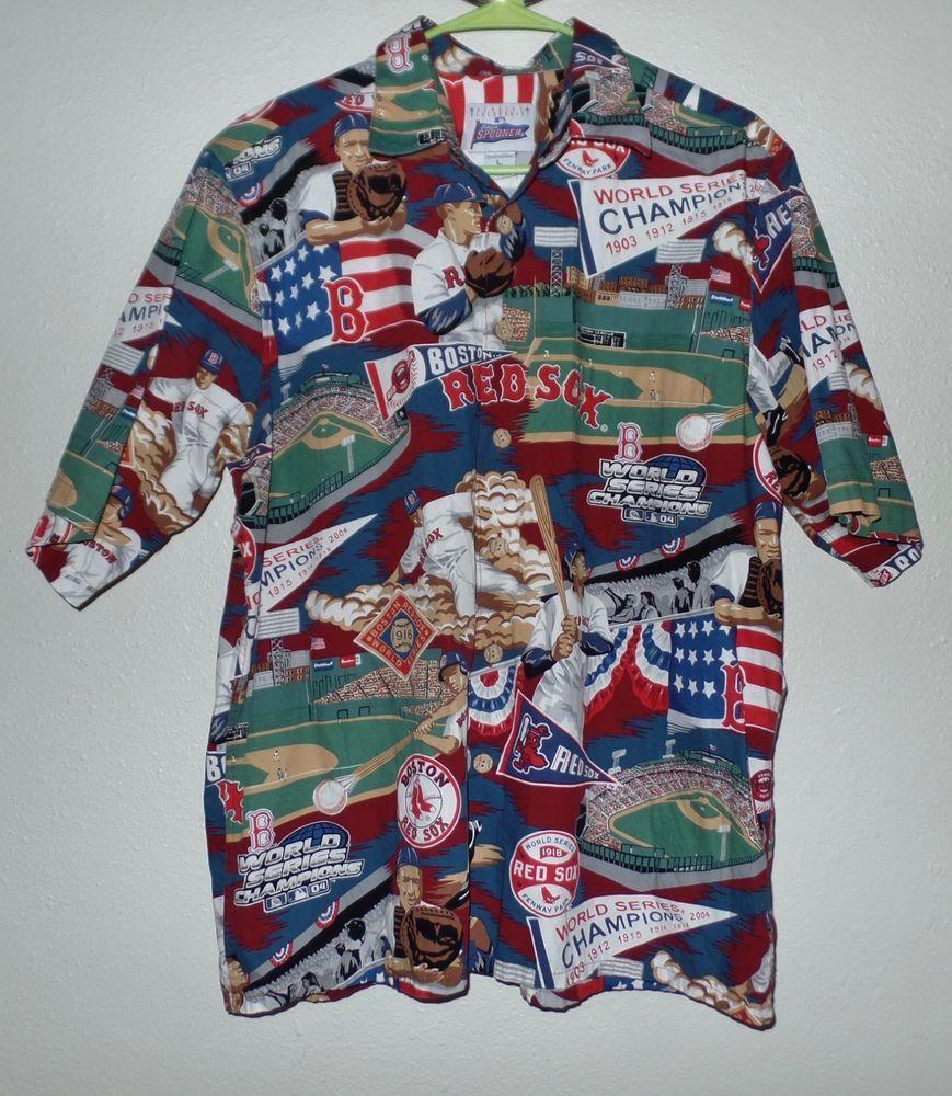 1cc2c50a REYN SPOONER MLB ALOHA Boston Red Sox Shirt L Champions HAWAIIAN # ReynSpooner #Hawaiian