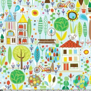 Carolyn Gavin - Spring Street - Spring Street in Blue. Currently out of stock. How sad! Would love to make little man some curtains with this.