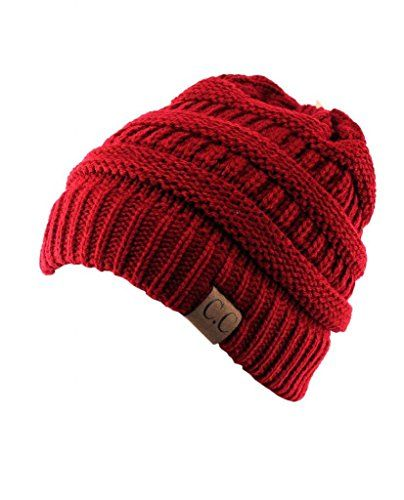 15f93c4b446 Trendy Warm Chunky Soft Stretch Cable Knit Slouchy Beanie Skully HAT20A