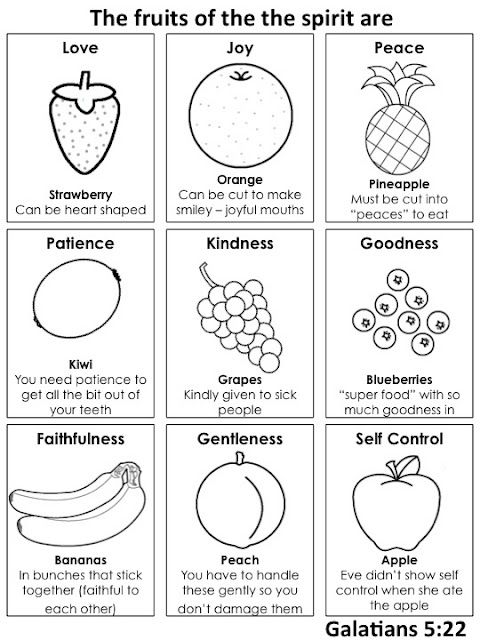 Fruit Of The Spirit What A Cool Idea To Teach Kids And Adults